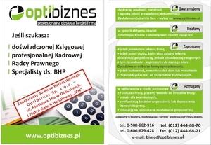 Nowa ulotka reklamowa OptiBiznes Sp. z o.o.